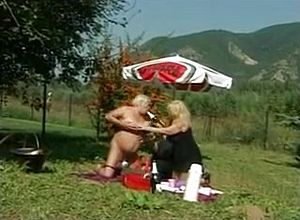 Straight,grannies,hairy,lesbian,outdoor,toys