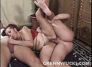 Blowjob,granny,hardcore,threesome