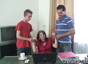 Granny,matures,milf,office,old Young,reality,roleplay,threesome,wife